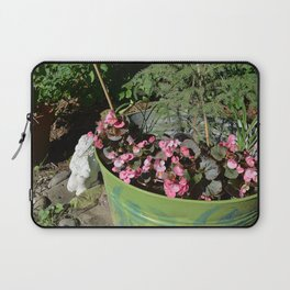 Sun kissed Garden Angel and Begonias Laptop Sleeve