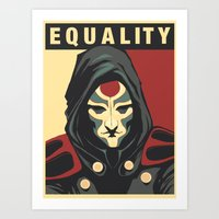 equality Art Prints featuring Equality by leibergart