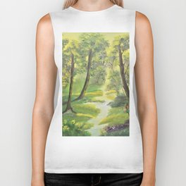 Happy forest with animals Biker Tank