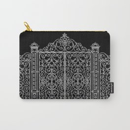 French Wrought Iron Gate | Louis XV Style | Black and Silvery Grey Carry-All Pouch