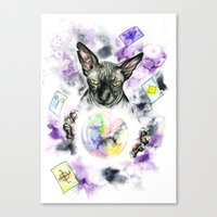 scarface Canvas Prints featuring Daubie the fortune teller  by Psyca