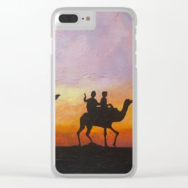 Travellers Clear iPhone Case