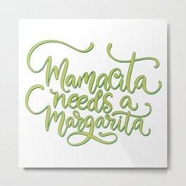 Mexico - Mama Margarita - Type - Bright Metal Print