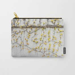 Yellow Vines On Grey Concrete Wall Carry-All Pouch