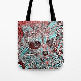 ColorMix Raccoon Tote Bag