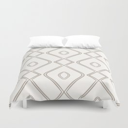 Modern Boho Ogee in Cream Duvet Cover