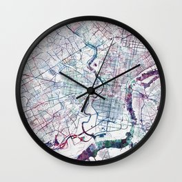 Philadelphia map Wall Clock