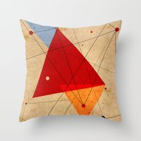 jazzberry Throw Pillows featuring knot by .eg.