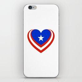 Puerto Rico en el corazón iPhone Skin