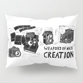 Weapons Of Mass Creation - Photography (blockprint) Pillow Sham