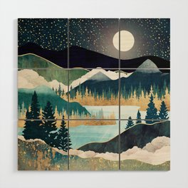 Star Lake Wood Wall Art