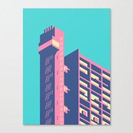 Trellick Tower London Brutalist Architecture - Plain Sky Canvas Print