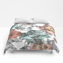 Etched Rose Comforters