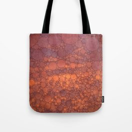 Percolated Sunset in Warm Tones Tote Bag