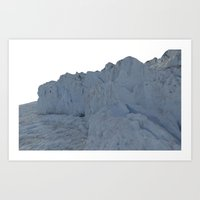1980's Reconstructed Glacier Data  Art Print