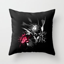 Punch Hero Throw Pillow