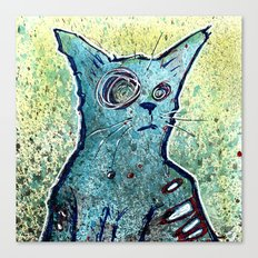 Kuro the Zombie Cat Canvas Print