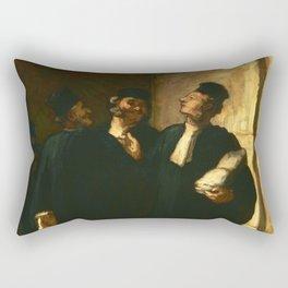 """Honoré Daumier """"Three Lawyers"""" Rectangular Pillow"""
