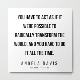 17      |  Angela Davis | Angela Davis Quotes |200609 Metal Print
