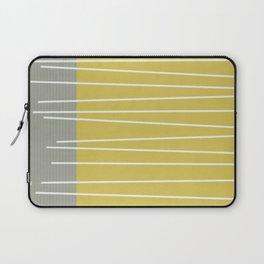 MId century modern textured stripes Laptop Sleeve