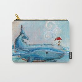 Whimsical Whale and Pelican Carry-All Pouch