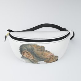 Chimp Deep in Thought Fanny Pack