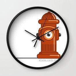fire h.eye.drant Wall Clock