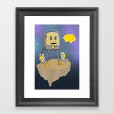 Space Toast Framed Art Print