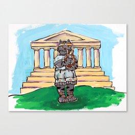 Greek Cat Canvas Print