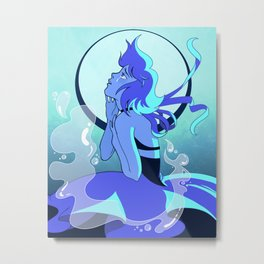 you fled into the bottom of the sea Metal Print