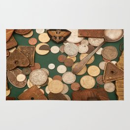 old coins Rug