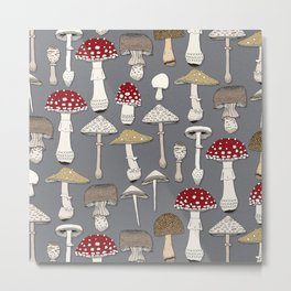 mushrooms iron Metal Print