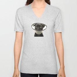 Black Pug Cone Unisex V-Neck