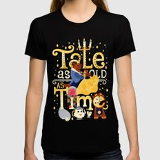 Tale as old as time Black X-LARGE Womens Fitted Tee