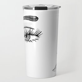 Eyes on You Black & White Travel Mug