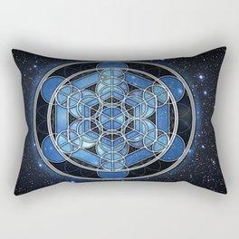 Metadala's cube Rectangular Pillow