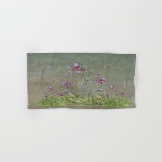 Painterly Spring Flower Garden  Hand & Bath Towel