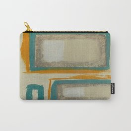 Soft And Bold Rothko Inspired - Modern Art - Teal Blue Orange Beige Carry-All Pouch