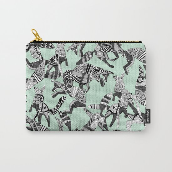woodland fox party mint Carry-All Pouch