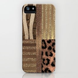 Gold Lioness Safari Chic iPhone Case