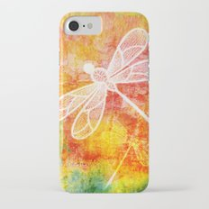 Dragonfly in embroidered beauty iPhone 7 Slim Case