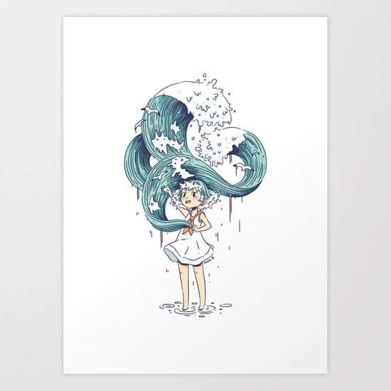 Daughter of the Sea Art Print