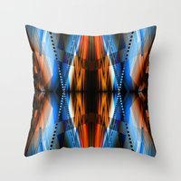 navajo Throw Pillows featuring Navajo by Robin Curtiss