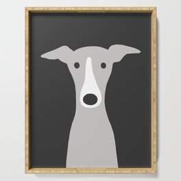 Cute Greyhound / Italian Greyhound Serving Tray
