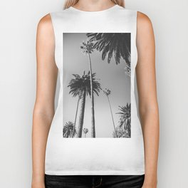 Palm Trees (Black and White) Biker Tank