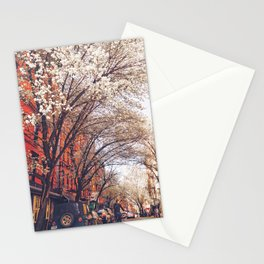 NYC Cherry Blossoms on the Lower East Side Stationery Cards