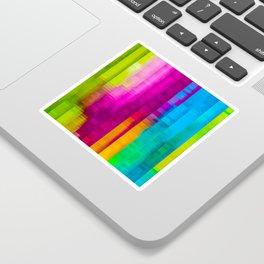 Vertical Rainbow Color Palette Sticker
