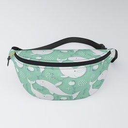Beluga Whale Aqua #homedecor Fanny Pack