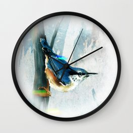 Nuthatch Bird Wall Clock