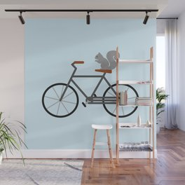 Squirrel Riding Bike Wall Mural